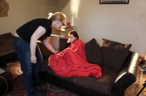 tucking our actress in