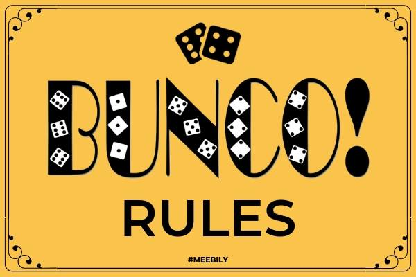 Bunco Rules How to Play Bunco Game