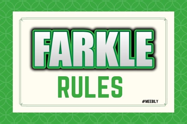 Farkle RULES, How to Play Farkle Dice Game