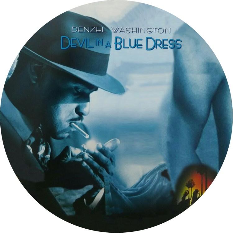 デンゼルワシントン主演の「青いドレスの女」のDVDラベルです