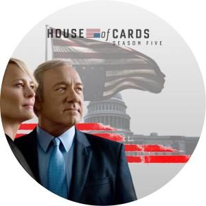 「ハウス・オブ・カードseason 5」のDVDラベルです