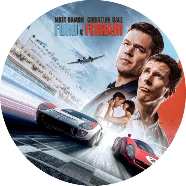 映画「フォードvsフェラーリ」のDVDラベルです