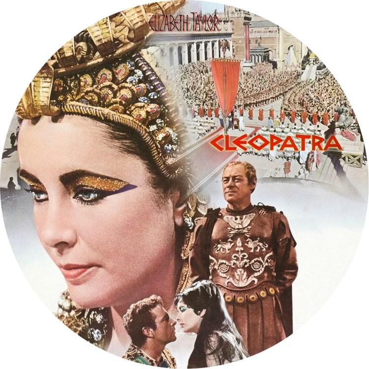 エリザベス・テイラー主演「クレオパトラ」のDVDラベルです