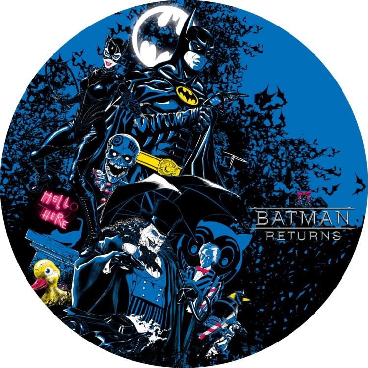 BATMAN RETURNS バットマン リターンズ のDVDラベルです