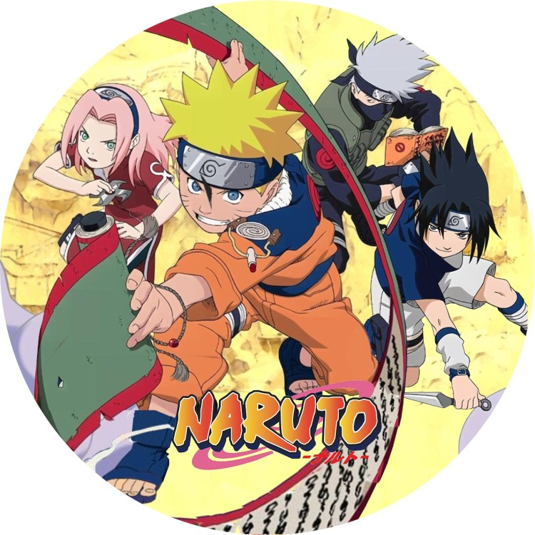 NARUTO -ナルト 1期 DVDラベル