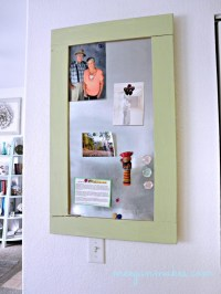 My DIY Book Page Magnetic Board