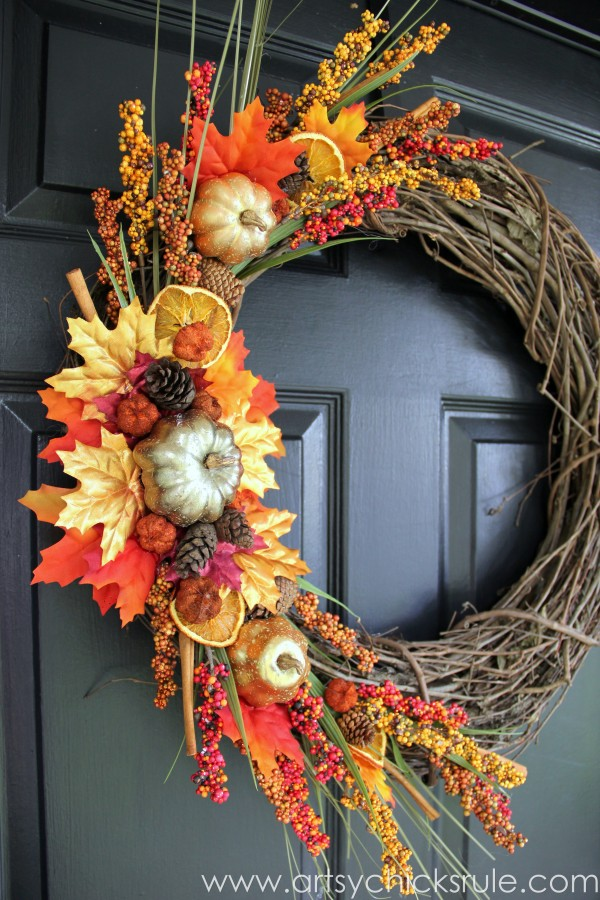 Using Leaves For Fall Decorating  What Meegan Makes