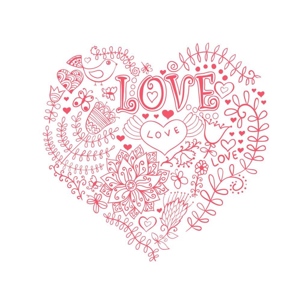 Floral Valentine Printables
