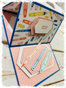 It Starts With Art Hello Fancy Fold Card