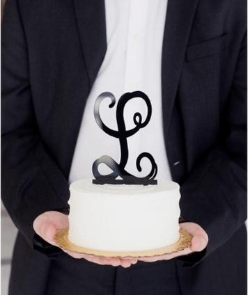 CAKE TOPPER BLACK