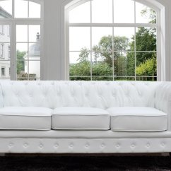 Tufted Button Sofa Pier 1 Sale Classic Scroll Arm Bonded Leather Chesterfield Style White