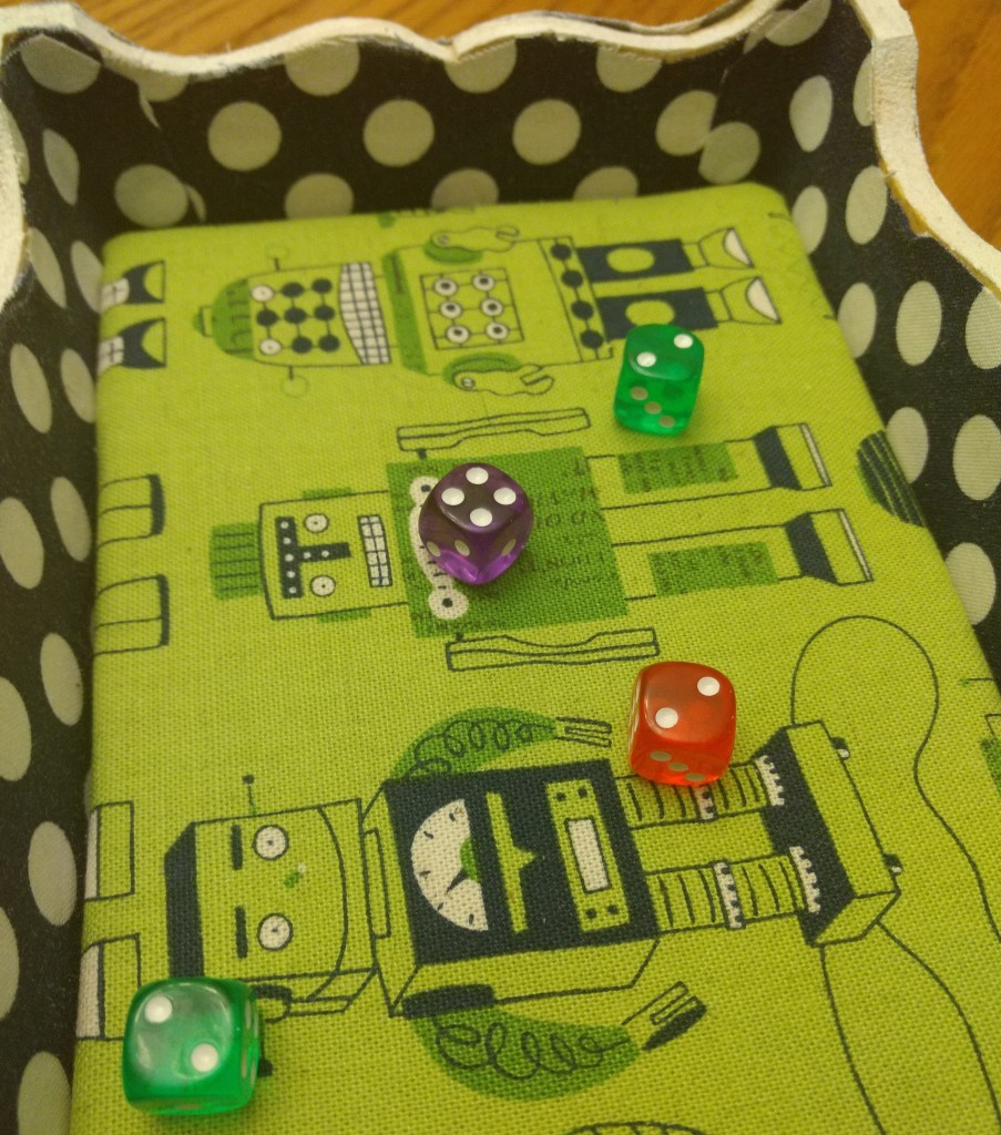 four rolled dice