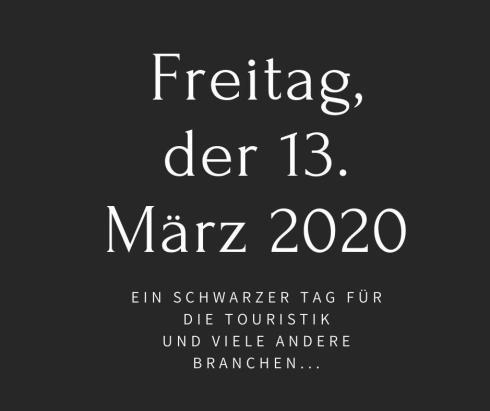 Freitag, der 13. März Touristik, schwarzer Tag