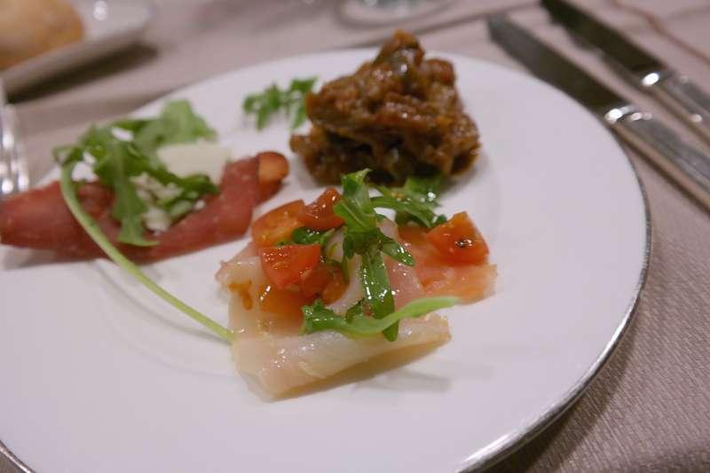 Antipasti: Fisch, Bresaolo, Caponata