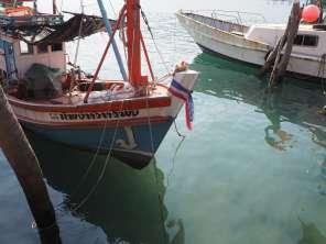 Boot vertäut