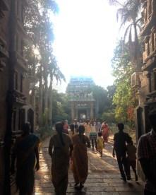 Walking toward Jambukeshwar temple