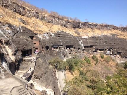 Ajanta caves from afar
