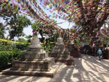 Stupas and prayer flags