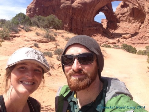 We are on the walking trail, heading to Double Arch