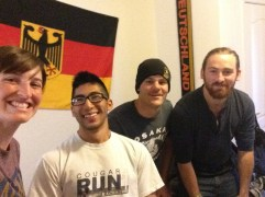 From the left, me, Travis (roommate) and Philipp (host) & Kiernan