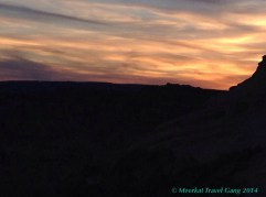 Our sunset scenery at the Grand Staircase-Escalante BLM
