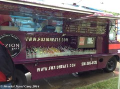 Despite the rain, we headed out for some yummy food truck action. There was Mexican food and ice cream (ironic!) :)