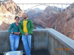 Hoover dam late in the afternoon