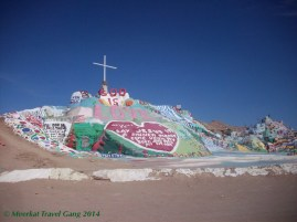 The main hill on salvation mountain