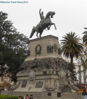 Statue in Plaza San Martín, Córdoba.