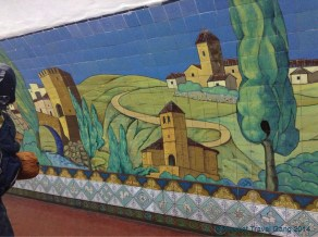 The subway stations are beautifully decorated inside! Some are so old they still have wooden escalators.