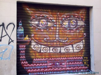 There's lots and lots of graffiti, street art and other colorful concoctions on the walls, doors and facades of most buildings.