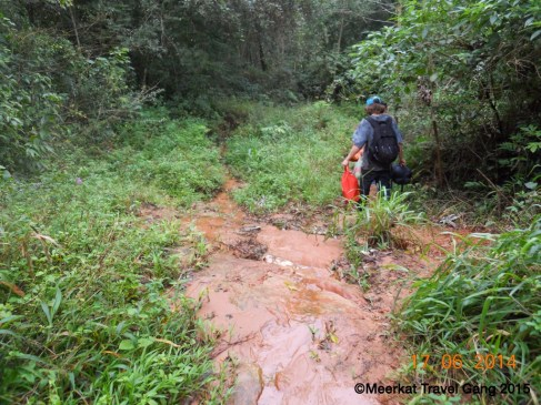 Between Richie's and Tavai, we walked, trekked and stumbled down slippery, muddy slopes.