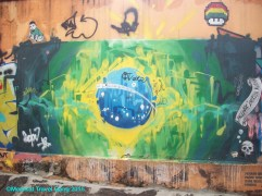Urban, graffiti version of the Brazilian flag. And a mosaic power up, just for good measure ;)