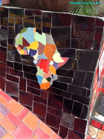 Even a little piece of Africa! They even built in Swaziland and Lesotho - now that's attention to detail.