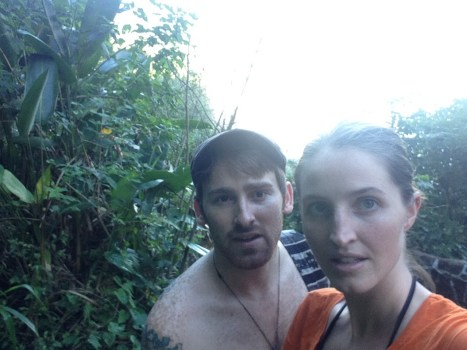 sunset race to town through jungle