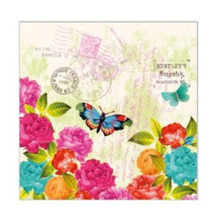 Servetten lente vlinder 25x25
