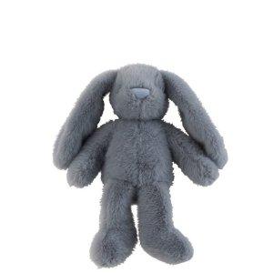 Knuffel konijn blauw 30cm detail