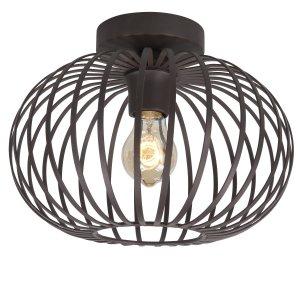 Plafondlamp bruin Bolato 30cm