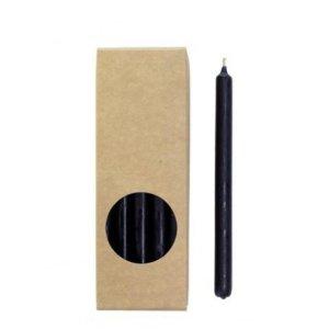 Potloodkaarsjes zwart 17cm