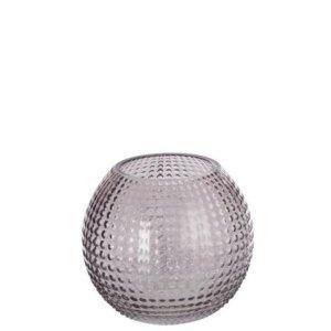 Waxinelichthouder bubbel grijs 13cm