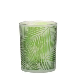 Waxinelichthouder tropical groen 12cm
