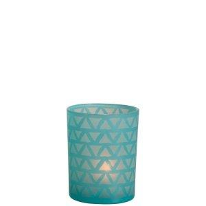 Waxinelichthouder azuur 12cm
