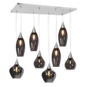 Hanglamp zwart Cambio 8 lichts