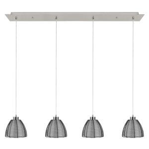 Hanglamp zwart Whires 4 lichts