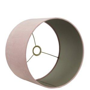 Lampenkap roze cilinder San remo taupe detail