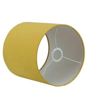 Lampenkap geel cilinder Linda corn detail