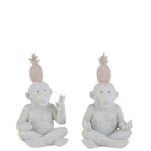 Ornament aap ananas set 20cm