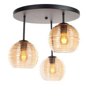 Plafondlamp amber Fantasy globe 3 lichts