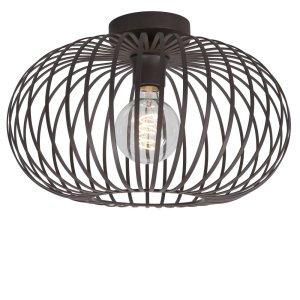 Plafondlamp bruin Bolato 38cm