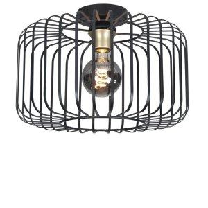 Plafondlamp zwart Lucca 50cm